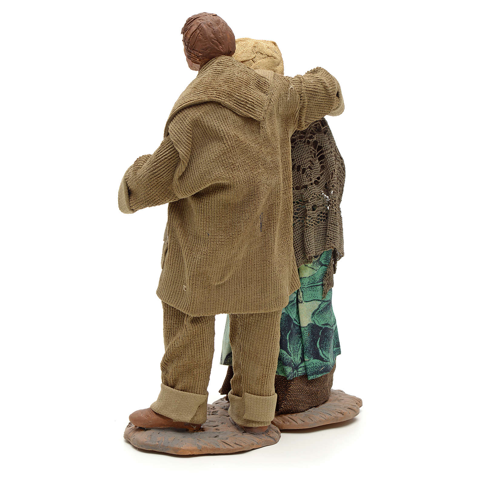 Coppia abbracciata 24 cm presepe napoletano 4