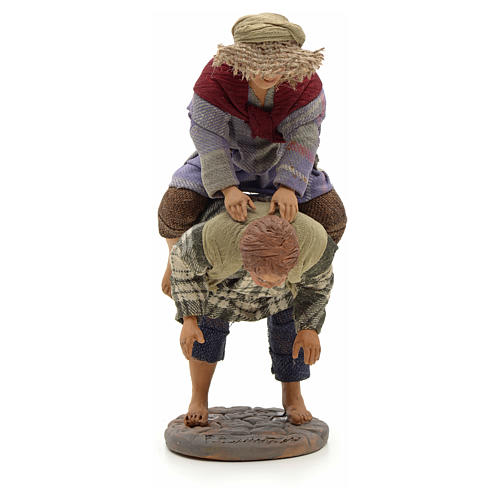 Neapolitan Nativity figurine, kids playing, 24 cm 1