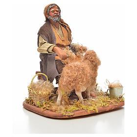 Neapolitan Nativity, sheep shearer, 24cm s4