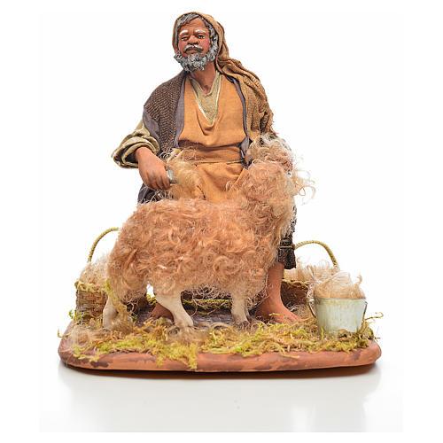 Neapolitan Nativity, sheep shearer, 24cm 1