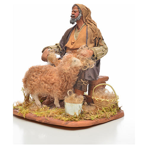 Neapolitan Nativity, sheep shearer, 24cm 2