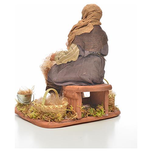 Neapolitan Nativity, sheep shearer, 24cm 3