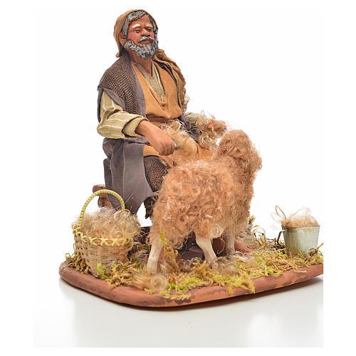 Neapolitan Nativity, sheep shearer, 24cm 4