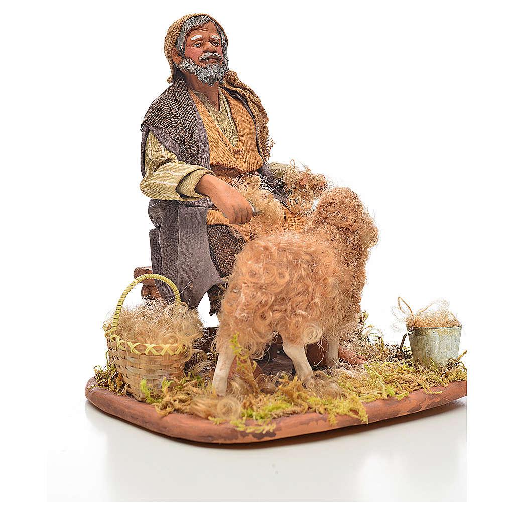 Tosatore di pecore 24 cm presepe napoletano 4