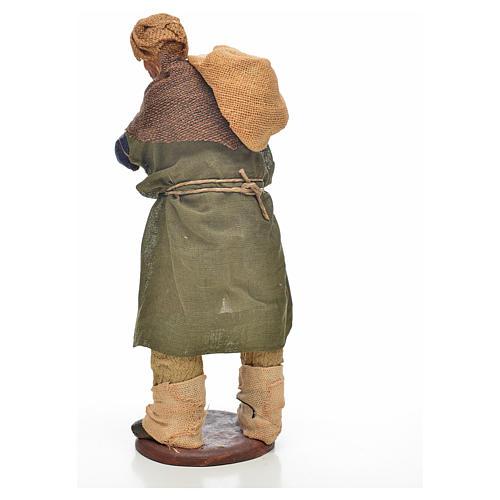 Carbonaio con sacco in spalla 14 cm presepe Napoli 7