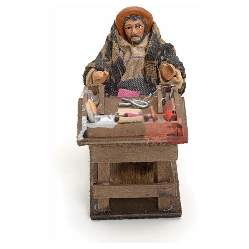 Neapolitan nativity figurine, cobbler, 8cm 1