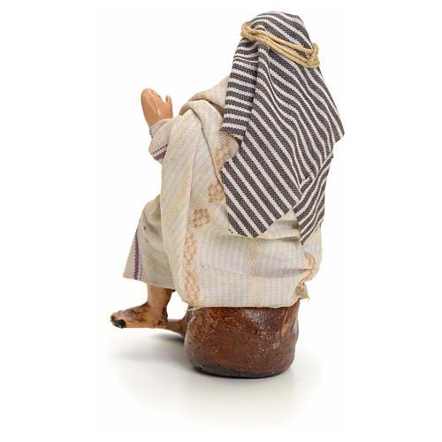 Neapolitan Nativity figurine, Arabian man with wine, 8 cm 3