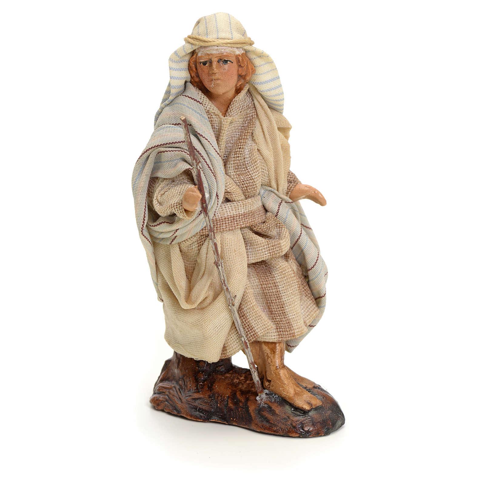 Neapolitan Nativity figurine, traveller, 8 cm 4