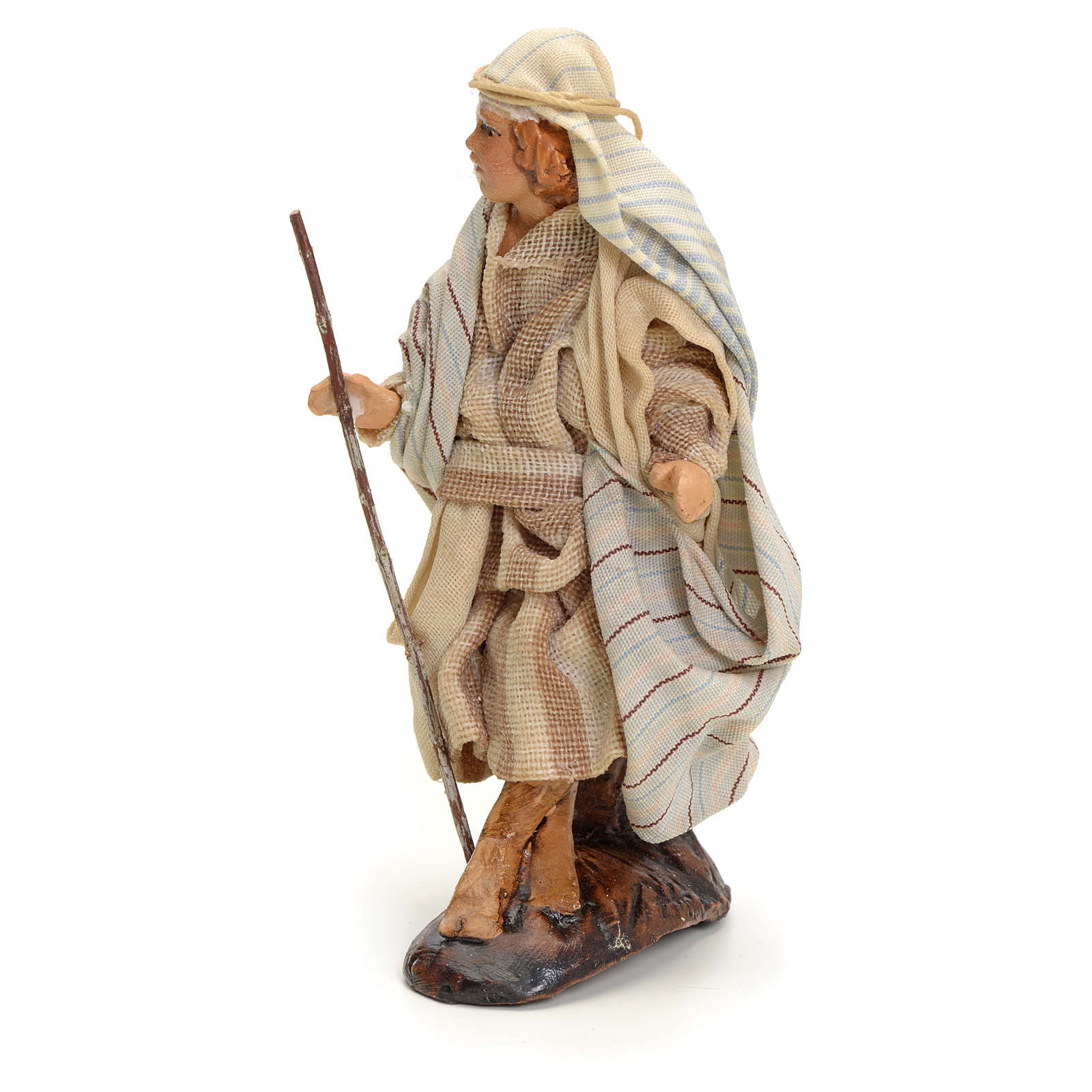 Neapolitan Nativity figurine, traveller, 8 cm 4