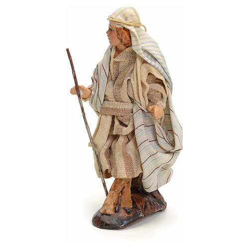 Neapolitan Nativity figurine, traveller, 8 cm 2