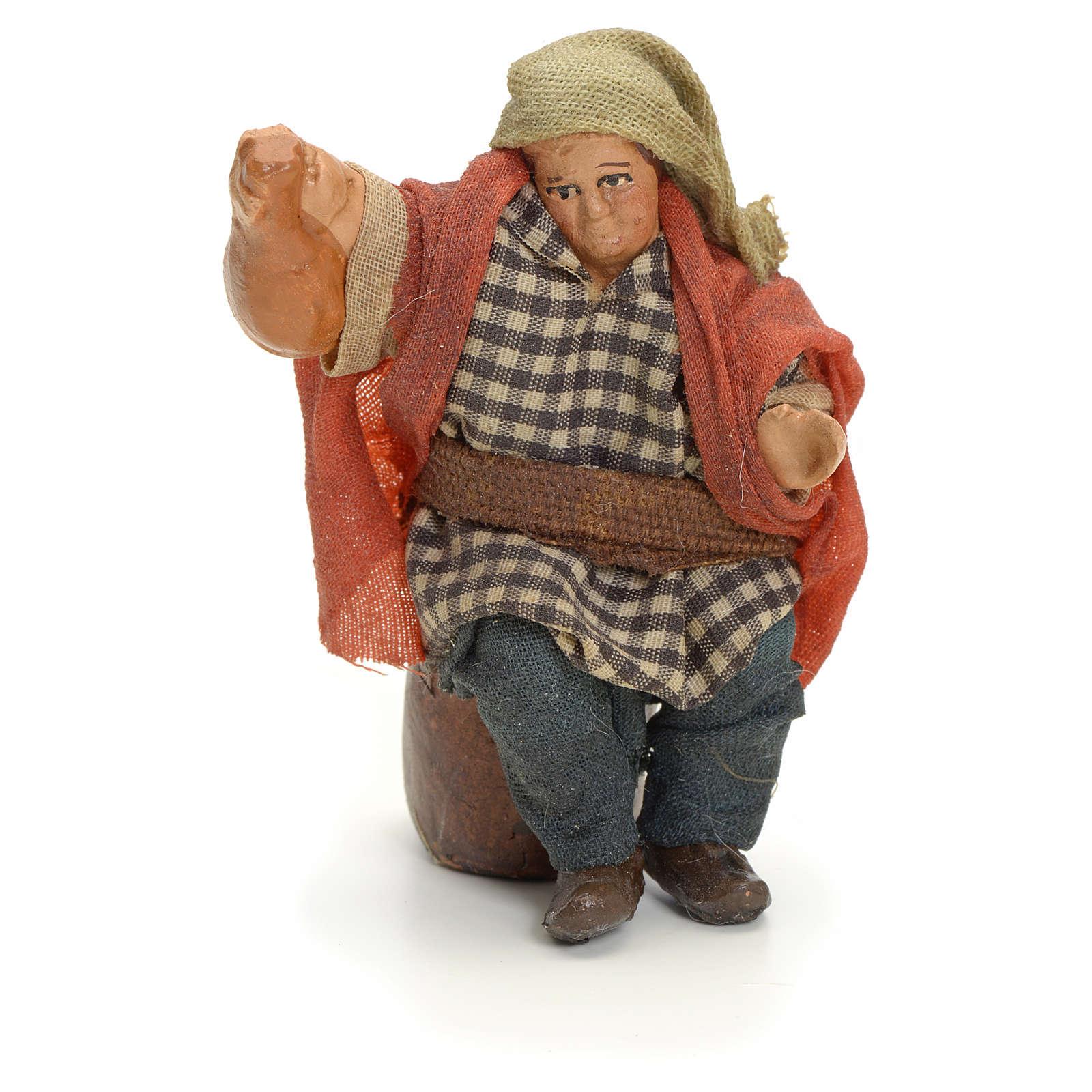 Homme à la fiasque crèche Napolitaine 8 cm 4