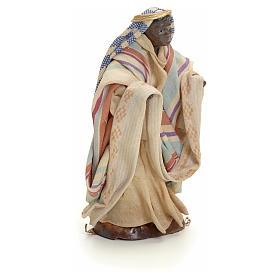 Neapolitan Nativity figurine, cloth seller, 8 cm s2