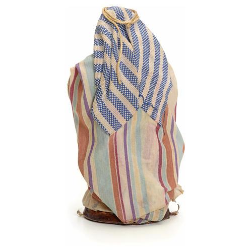 Neapolitan Nativity figurine, cloth seller, 8 cm 3