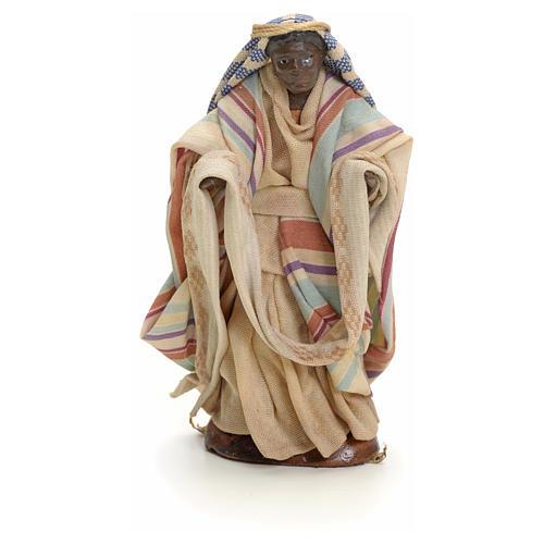 Neapolitan Nativity figurine, cloth seller, 8 cm 1