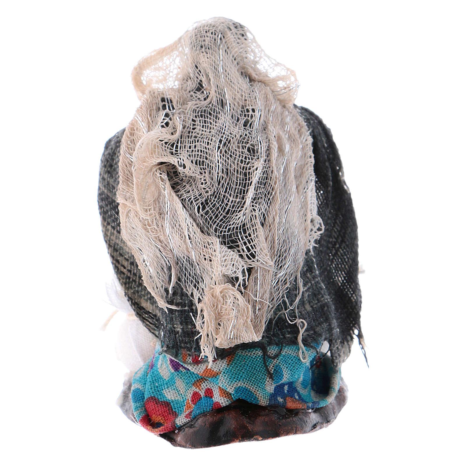 Mujer que amasa cm 8 pesebre napolitano 4