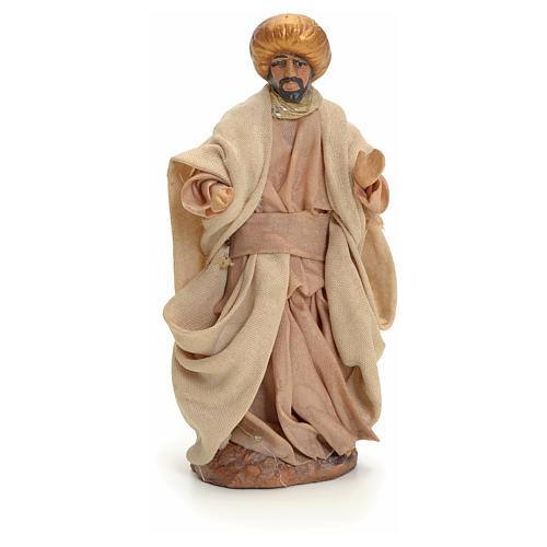 Neapolitan nativity figurine, Arabian man walking, 8cm 1