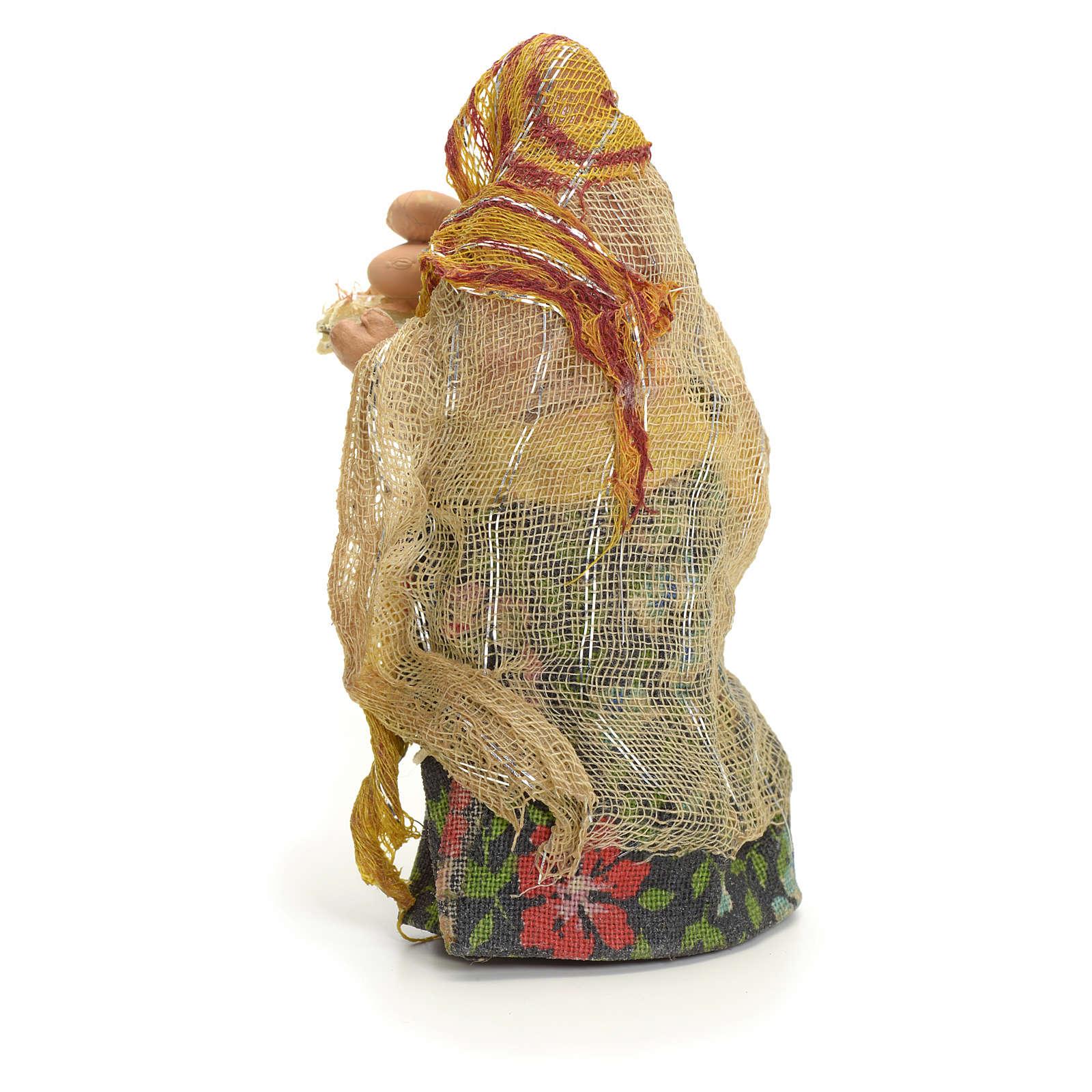 Donna con uova cm 8 presepe napoletano 4