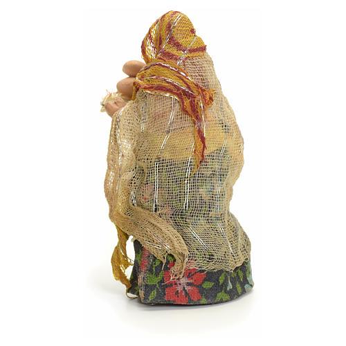 Donna con uova cm 8 presepe napoletano 3