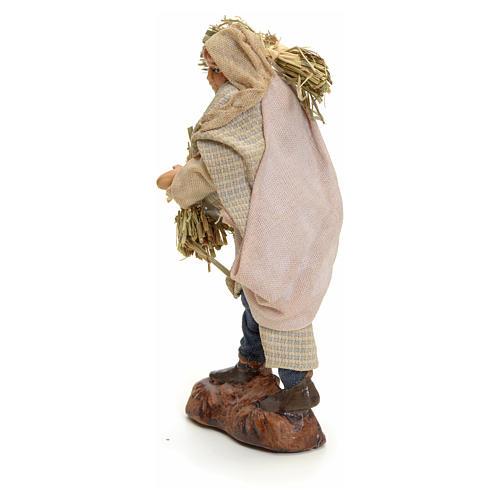 Hombre con heno cm 8 pesebre napolitano 3