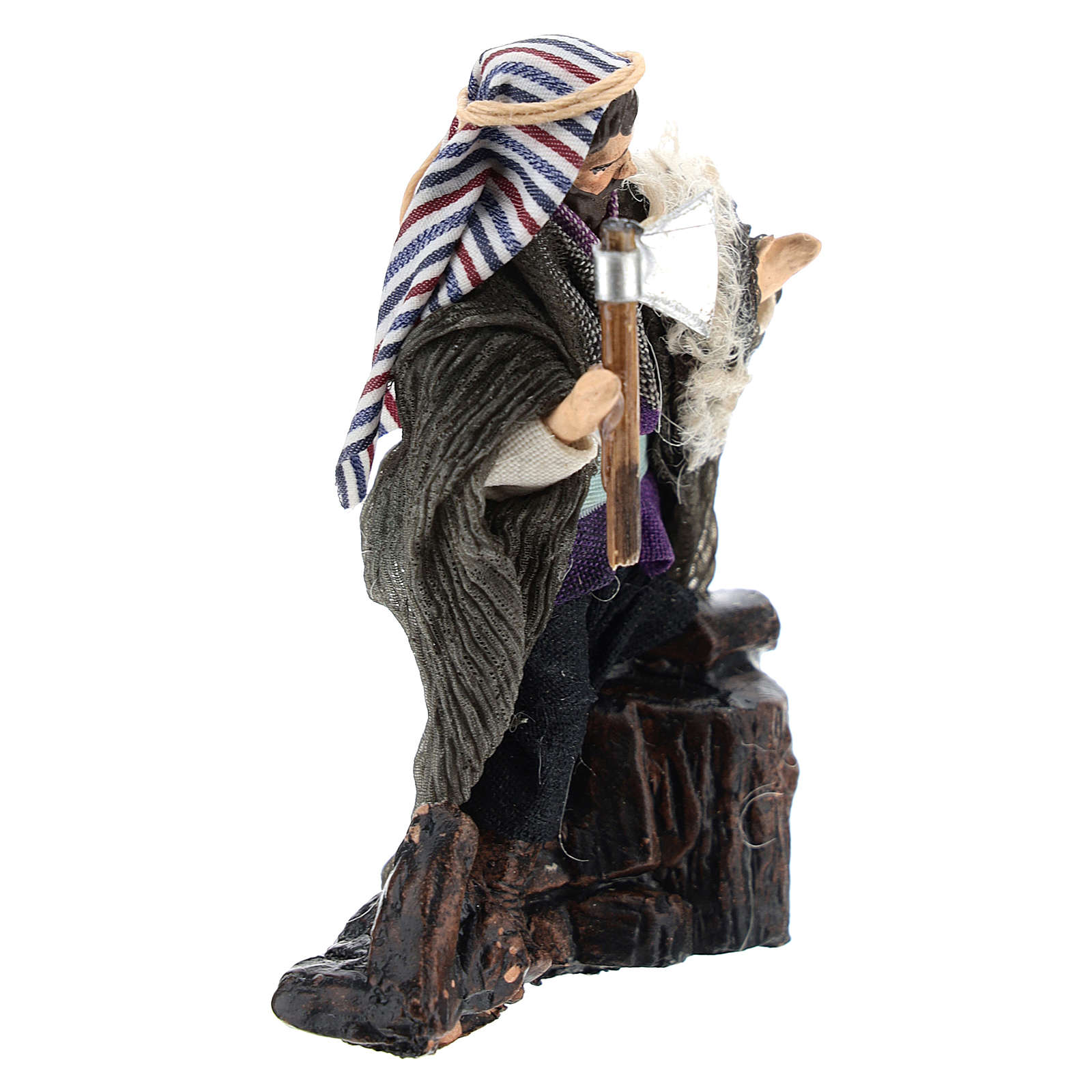 Neapolitan Nativity figurine, woodcutter, 8 cm 4