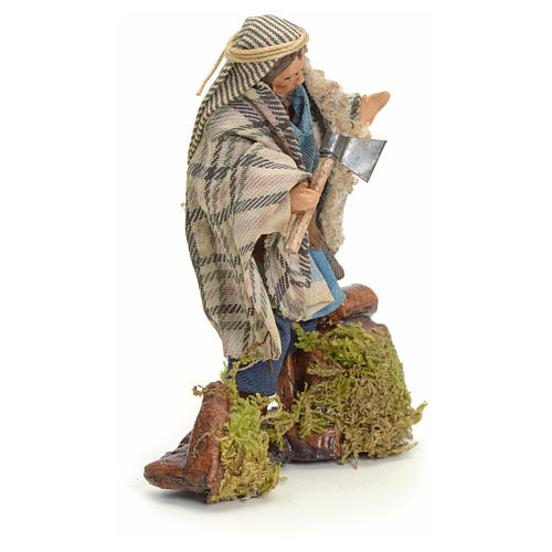 Neapolitan Nativity figurine, woodcutter, 8 cm 2