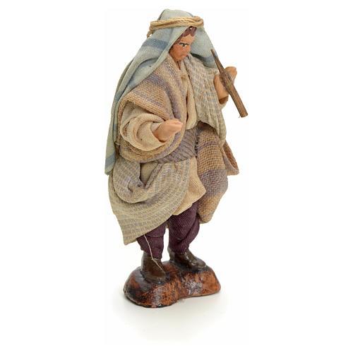 Neapolitan Nativity figurine, Arabian piper, 8 cm 2
