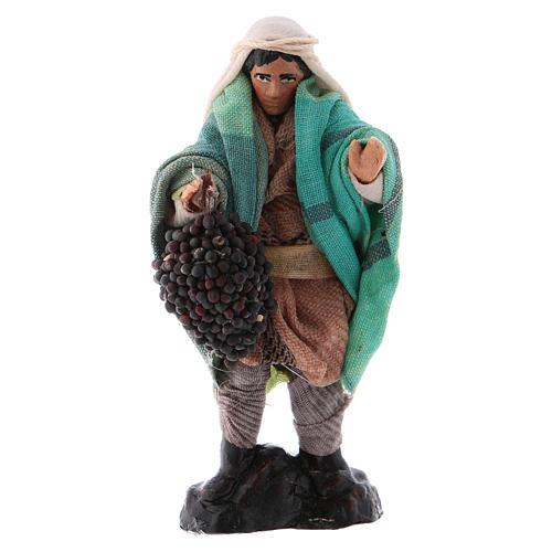 Uomo con uva cm 8 presepe napoletano 1