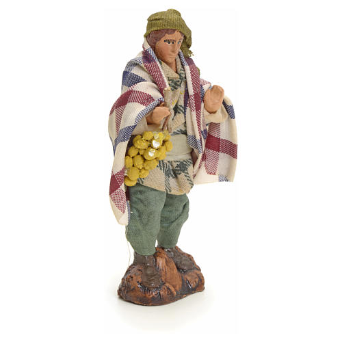 Neapolitan Nativity figurine, man with grapes, 8 cm 2