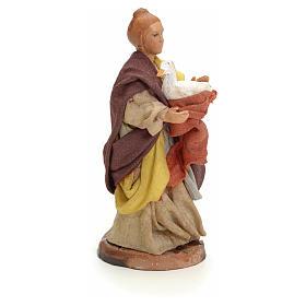 Neapolitan Nativity figurine, woman with goose, 8 cm s2