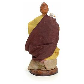 Neapolitan Nativity figurine, woman with goose, 8 cm s3