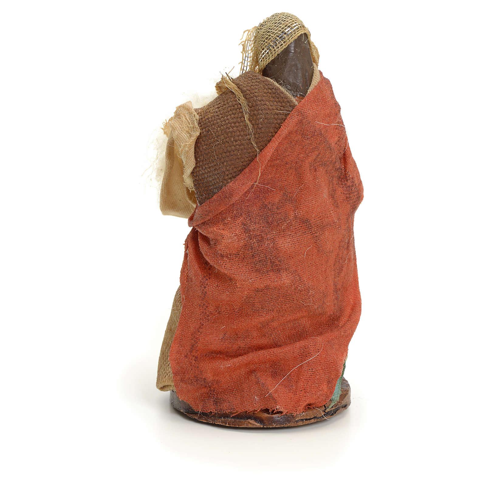 Mujer con lana cm 8 pesebre napolitano 4