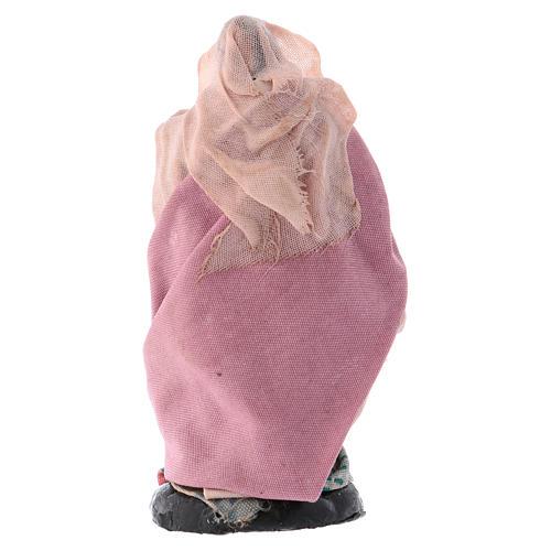 Mujer con lana cm 8 pesebre napolitano 2