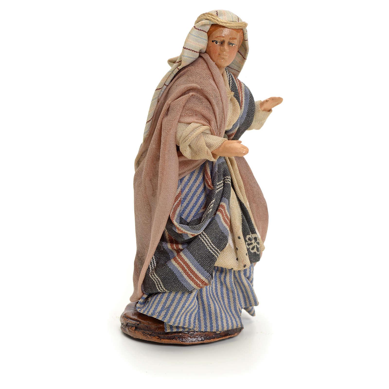 Neapolitan nativity figurine, Arabian buyer, 8cm 4