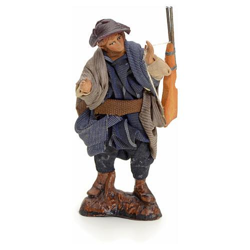 Neapolitan Nativity figurine, hunter, 8 cm 1