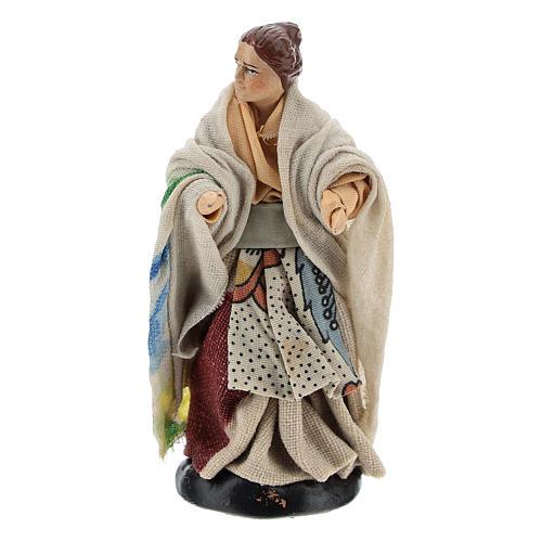 Neapolitan nativity figurine, woman at the balcony, 8cm 1