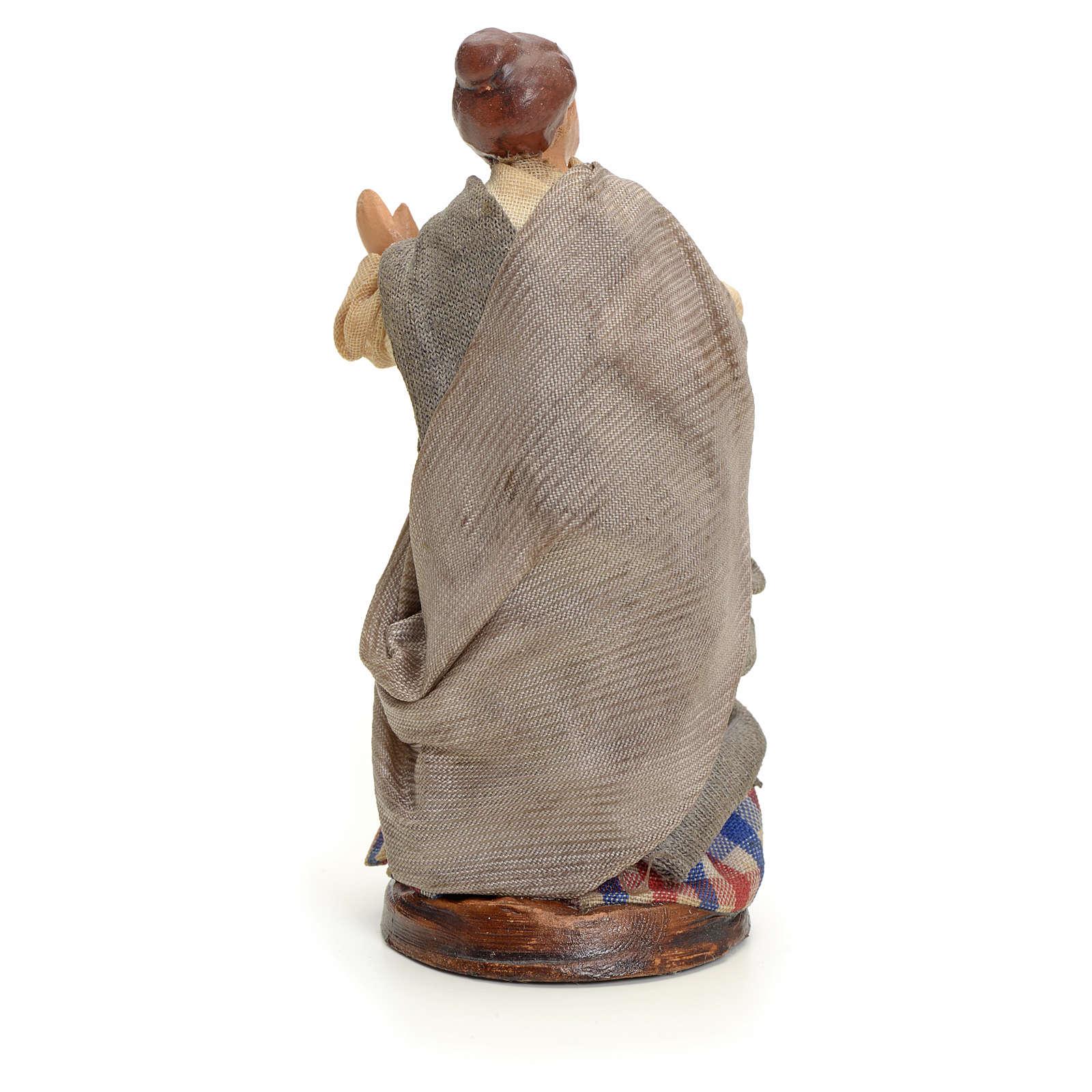 Neapolitan nativity figurine, woman at the balcony, 8cm 4