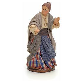 Neapolitan nativity figurine, woman at the balcony, 8cm s1