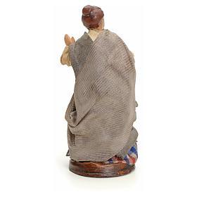 Neapolitan nativity figurine, woman at the balcony, 8cm s3