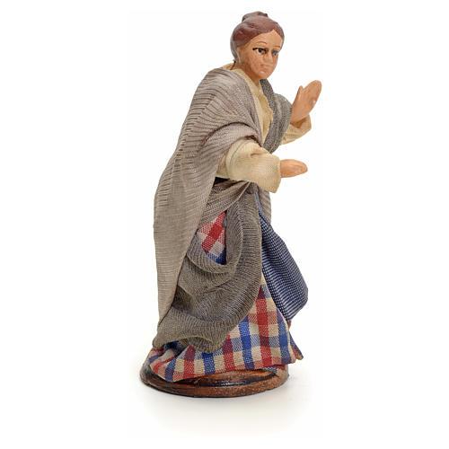 Neapolitan nativity figurine, woman at the balcony, 8cm 2
