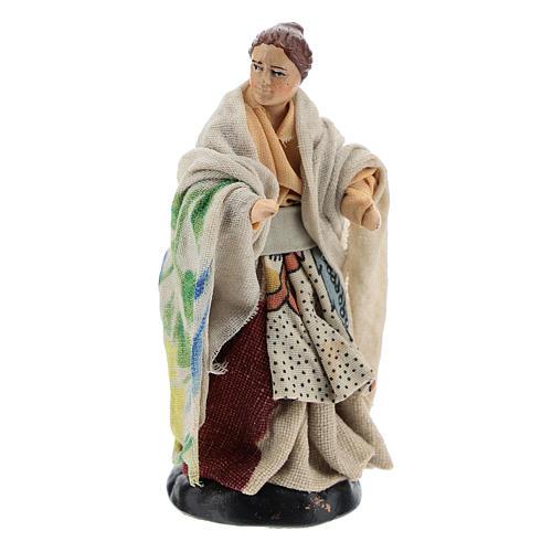 Neapolitan nativity figurine, woman at the balcony, 8cm 3