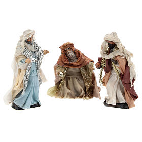 Neapolitan Nativity Scene: Neapolitan Nativity figurine, three Kings, 8 cm