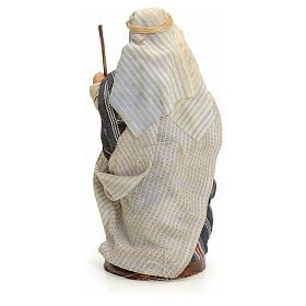 Neapolitan nativity figurine, Arabian man with stick, 8cm s3