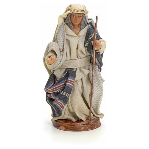 Neapolitan nativity figurine, Arabian man with stick, 8cm 1