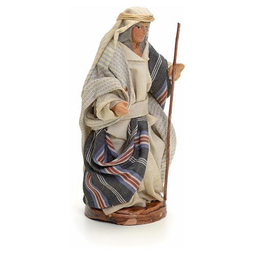 Neapolitan nativity figurine, Arabian man with stick, 8cm 2