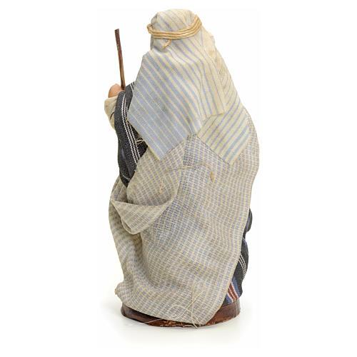 Neapolitan nativity figurine, Arabian man with stick, 8cm 3