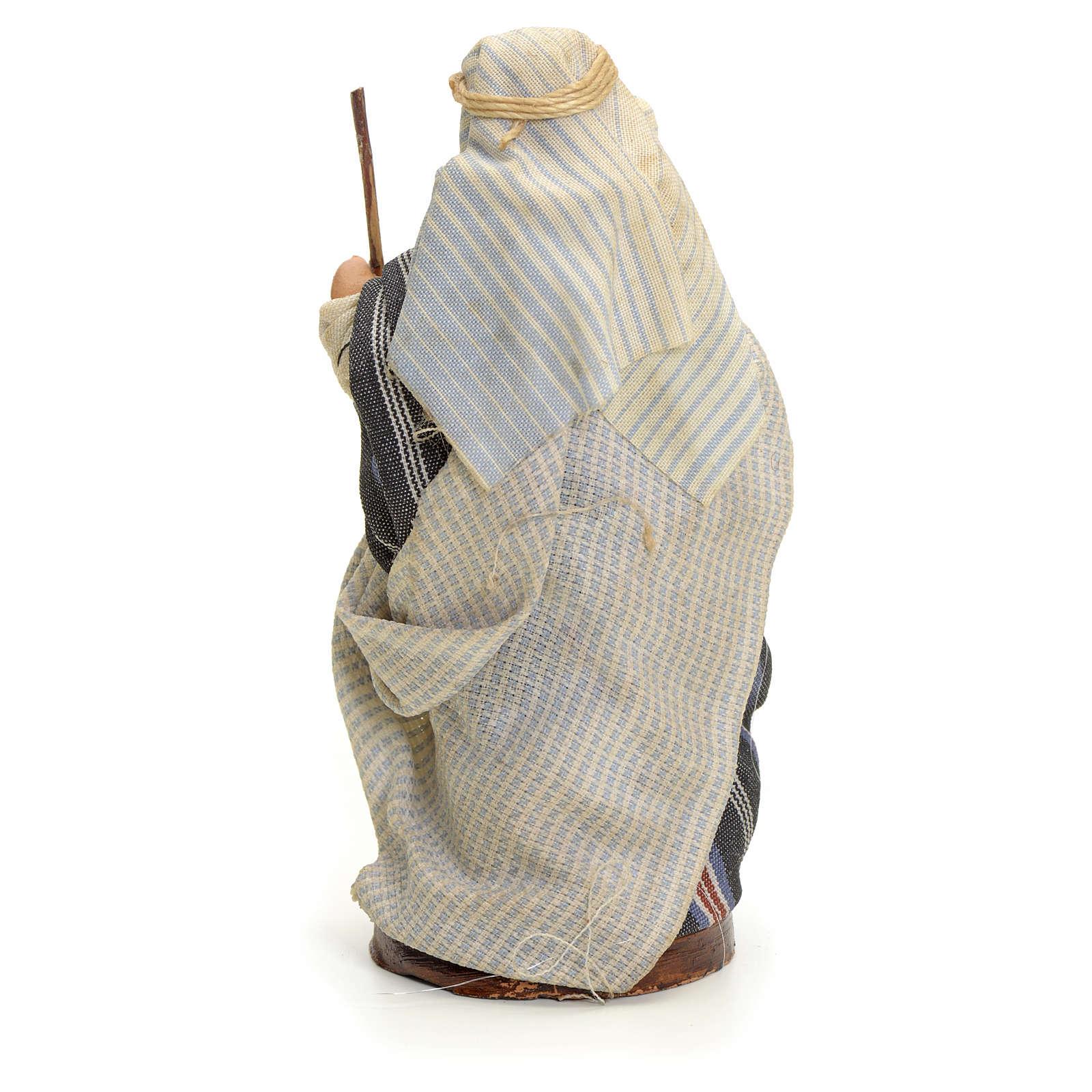 Homme arabe au bâton crèche Napolitaine 8 cm 4