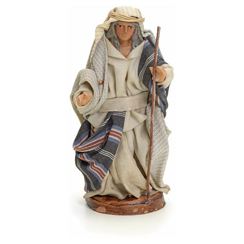 Neapolitan nativity figurine, Arabian man with stick, 8cm 1