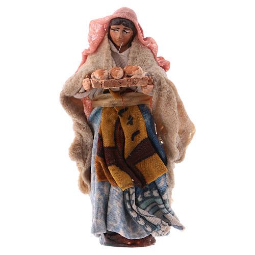 Donna con pane cm 8 presepe napoletano 1