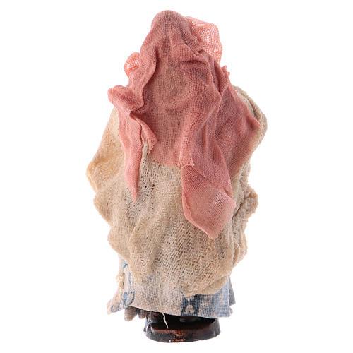 Donna con pane cm 8 presepe napoletano 2
