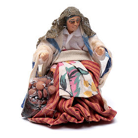 Neapolitan Nativity figurine, female roast chestnut seller, 8 cm s1